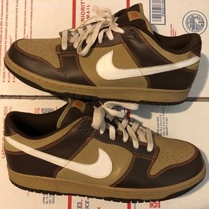 Nike 6.0 Dunk Low '07 Brown Leather Skate Shoes